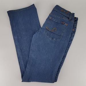 Seven 7 Woman's Jean Boot Stretch EUC. Size 26.